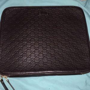 Gucci Guccissima leather laptop case